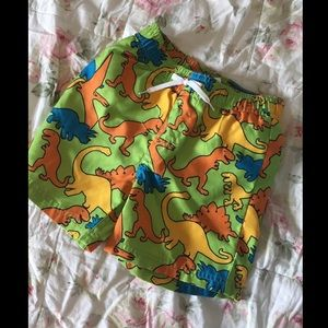 Boys dinosaur swim trunks